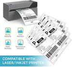 Shipping Labels with Rounded Corner, Easily Peel Off Than Ordinary Half Sheet Labels, 8.5 x 5.5 Inches Half Sheet Self Adhesive Shipping Address Labels for Laser and Inkjet Printer (150 Sheets)