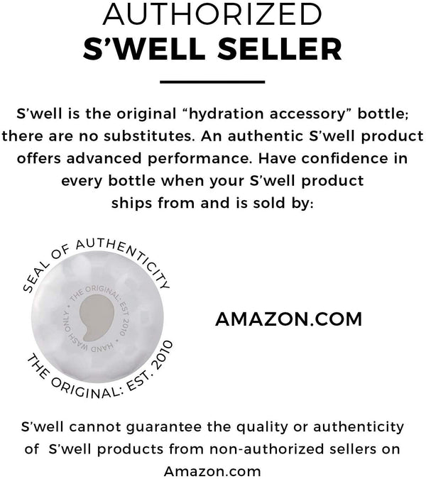 S'well Stainless Steel Triple-Layered Vacuum-Insulated Containers Keeps Drinks Cold for 41 Hours and Hot for 18 - with No Condensation - BPA Free Water Bottle, 17oz, Milky Way