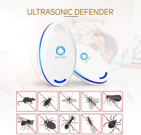 Ultrasonic Pest Repeller, [2019 Newest] Electronic Pest Reject and Plug in Insect Control, Indoo