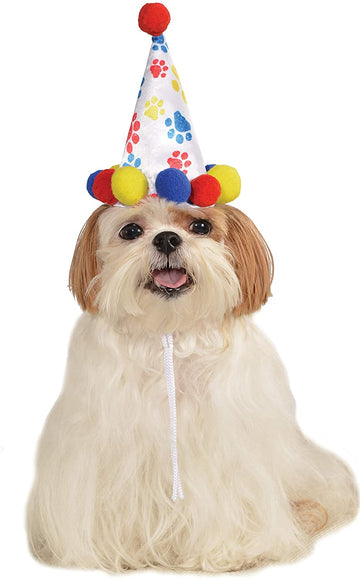Rubies Pet Boy Paw Print Birthday Hat