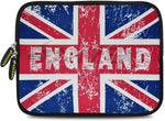 Amzer 7.9-10.5 Inches Designer Neoprene Sleeve Case for iPad/Tablet/e-Reader and Notebooks, England Flag Cross (AMZ5268105)