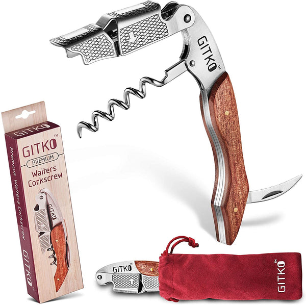 Wine Opener & Waiters Corkscrew-With a Comfortable Rosewood handle