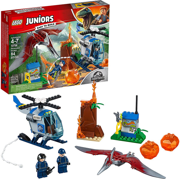 LEGO Juniors/4+ Jurassic World Pteranodon Escape 10756 Building Kit (84 Pieces)
