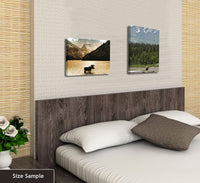 "JP London SCNV2405 2"" Thick Heavyweight Gallery Wrap Canvas, Bamboo Forest Path Zen Trees at 16"" Wide x 12"" High"