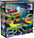 Ontel Magic Tracks Xtreme - Race Car & 10' of Flexible, Bendable Glow In The Dark Racetrack - As Seen on TV