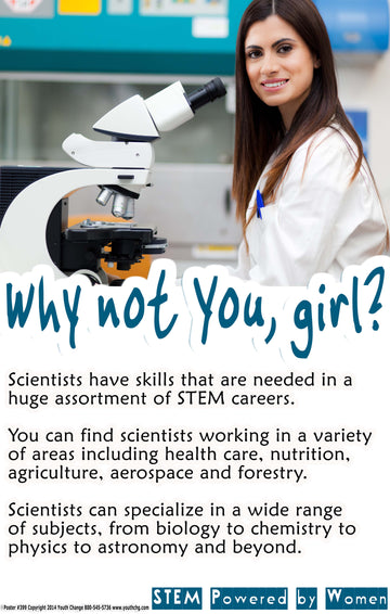 Youth Change Poster #399 Science Motivational Classroom Poster for Girls, Part of Series
