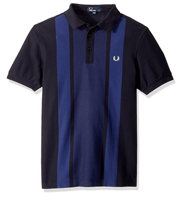 Fred Perry Men's Stripe Front Pique Shirt