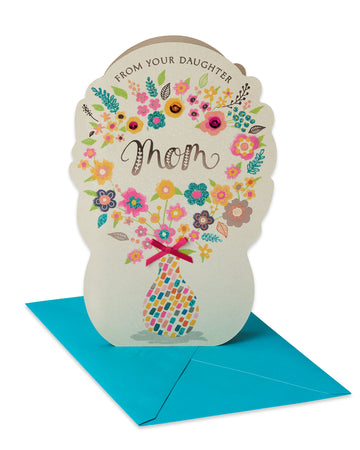 American Greetings Bouquet Mother's Day Card from Daughter with Glitter