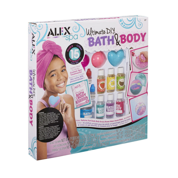 ALEX Spa Ultimate DIY Bath & Body Set Make Bombs Perfume and Much More