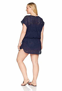 Anne Cole Women's Plus-Size Crochet Swim Cover Up