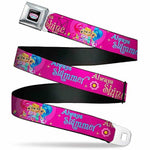 ickelodeon Men's Buckle-Down Seatbelt Belt Kids, Character Group Pose Shimmer/Always Shine