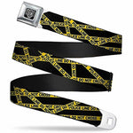 Buckle-Down Seatbelt Belt - Police Line Black/Yellow