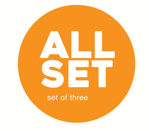 SET OF THREE–BLACK