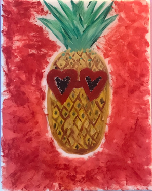 Pineapple In Sunglasses Painting