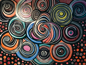 Colorful Abstract Circle Painting