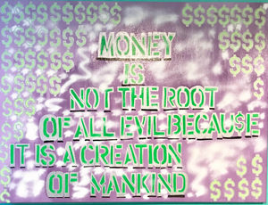 Money Root Of Evil Dollar Sign Painting