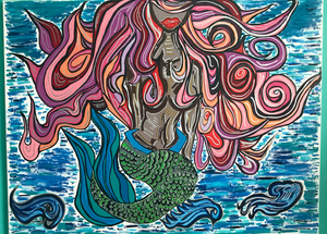 Colorful Mermaid Painting