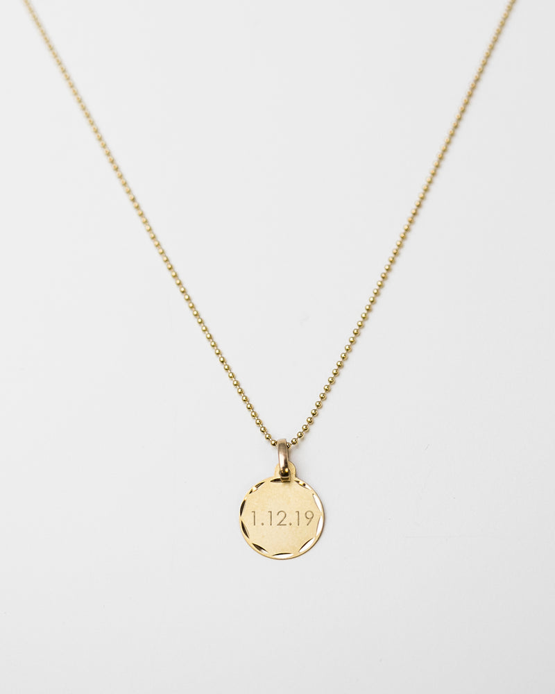 14K Disc Necklace