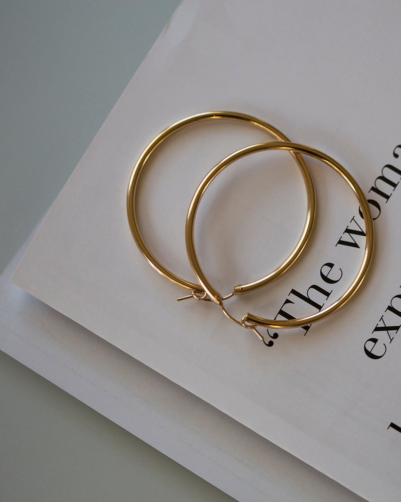 Chunky Gold Hoop Earrings