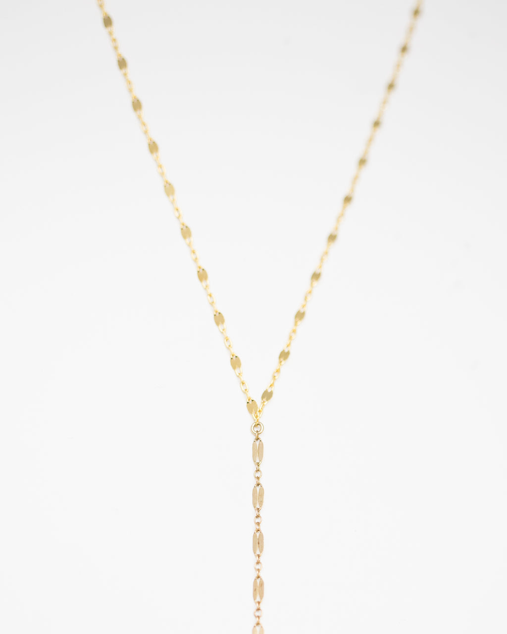 Double Shinny Lariat Necklace