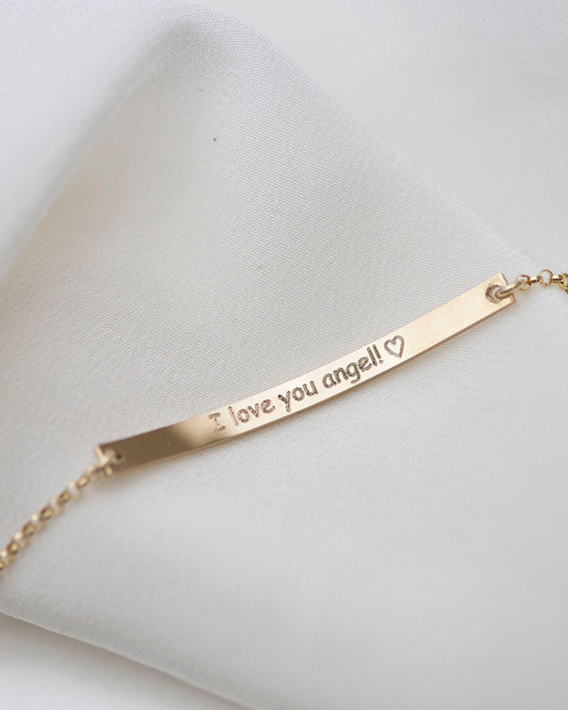 Skinny Bar Bracelet with Custom Engraving