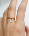 Diamond Letter Ring