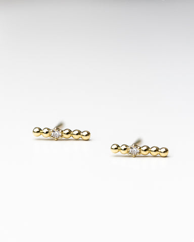 Diamond Letter stud Earrings