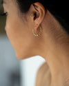 Gold Chain Stud Earrings