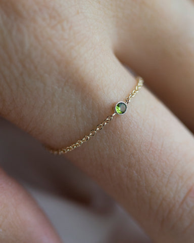 14k Birthstone Ring