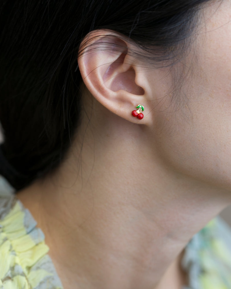 Cherry Stud Earring