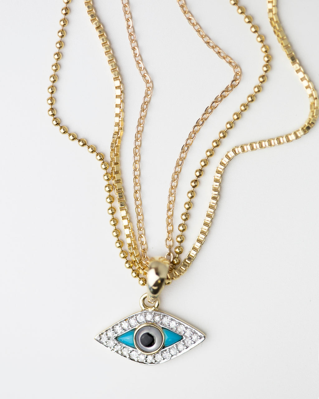 Diamond Evileye Necklace