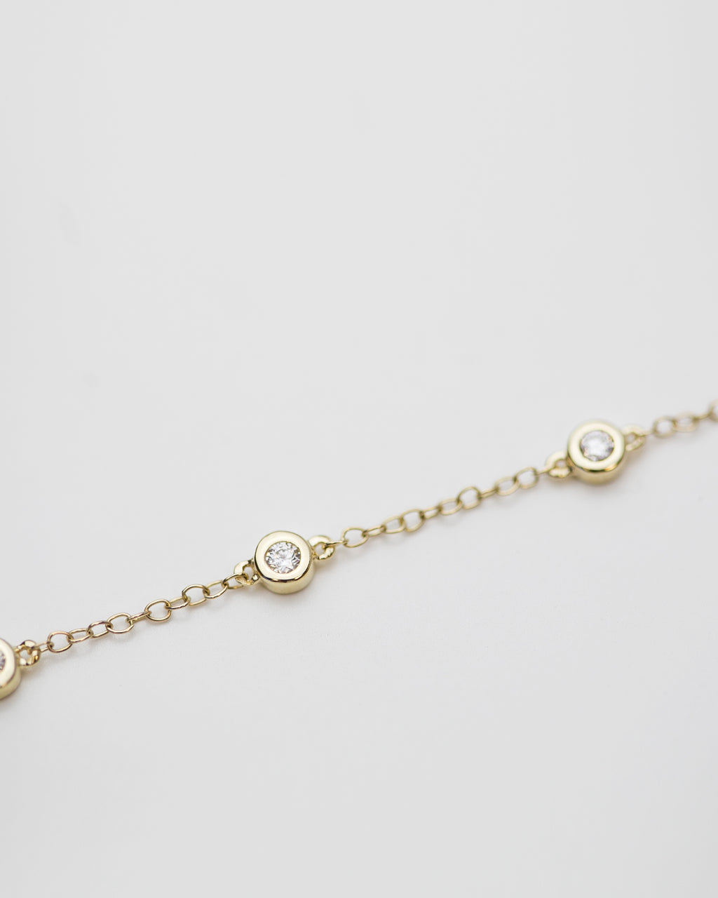 14k Diamond by the Yards Bracelet