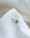 14K Initial stud Earrings