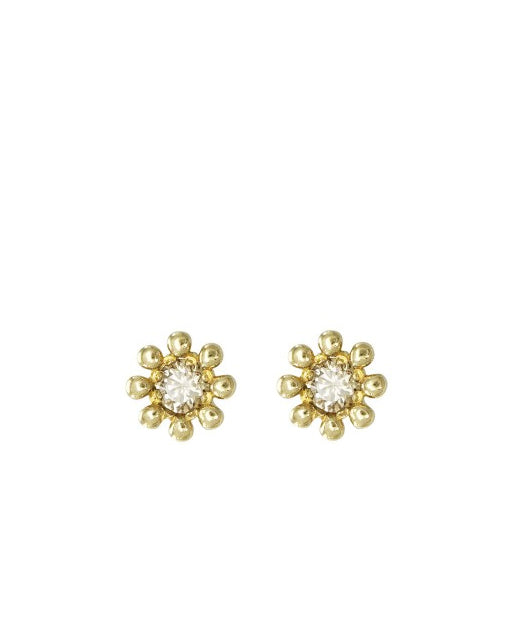 Diamond Mini Daisy Earrings