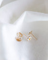 14k Daisy Stud Earrings