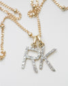 14K Diamond Initial Necklace
