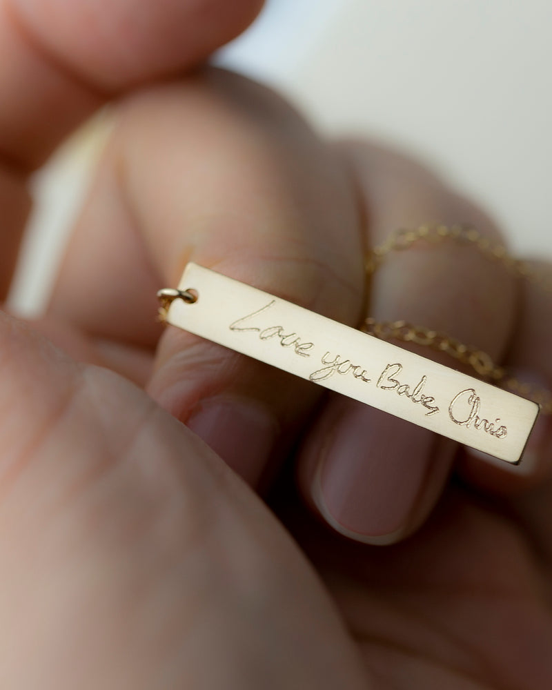 Hand Writing Necklace