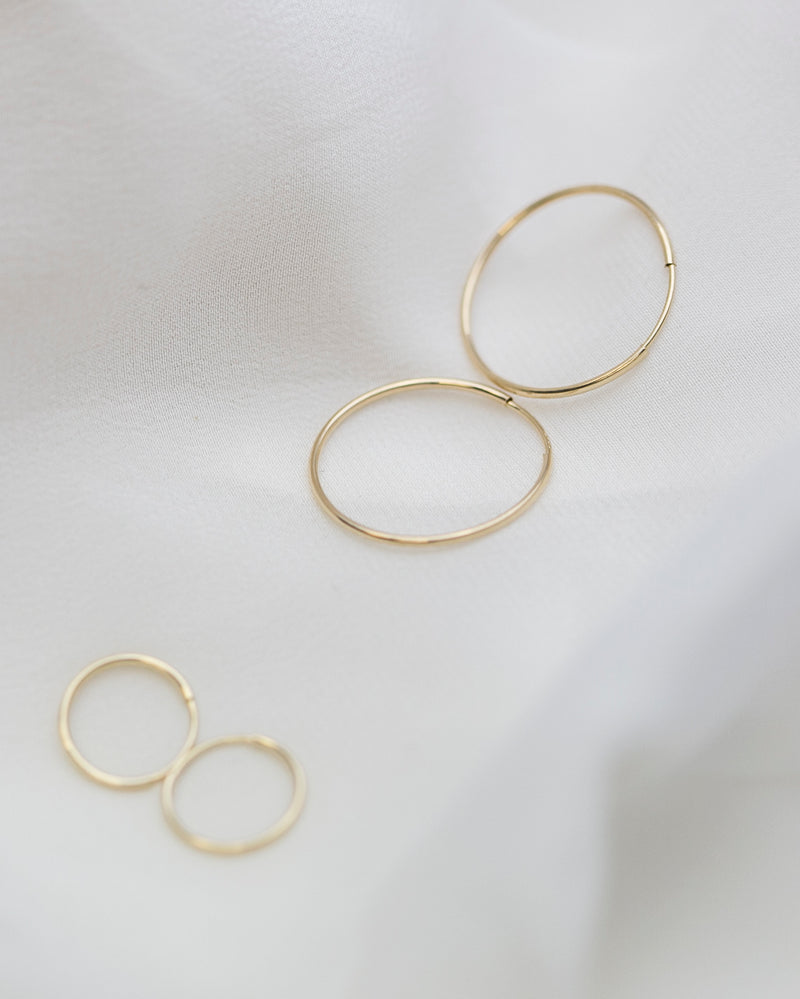14K Endless Hoops