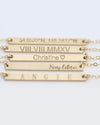 Skinny Name Bar Plate Necklace