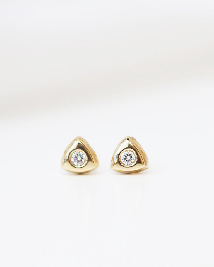 Triangle button Earrings