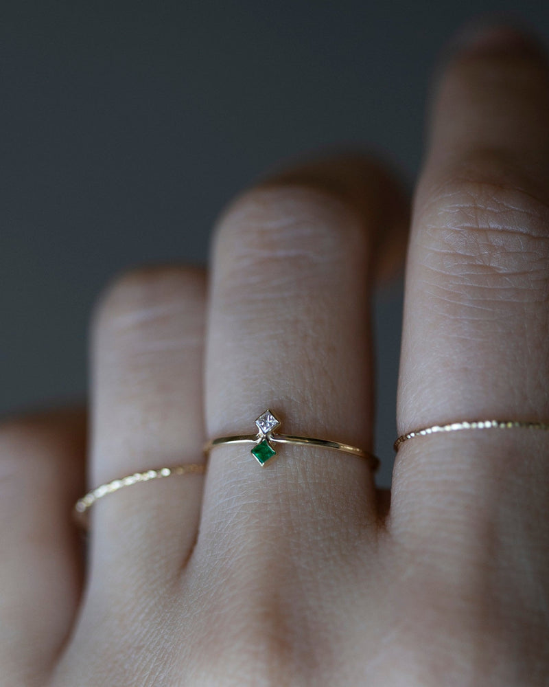 Two Genuine Birthstone Ring