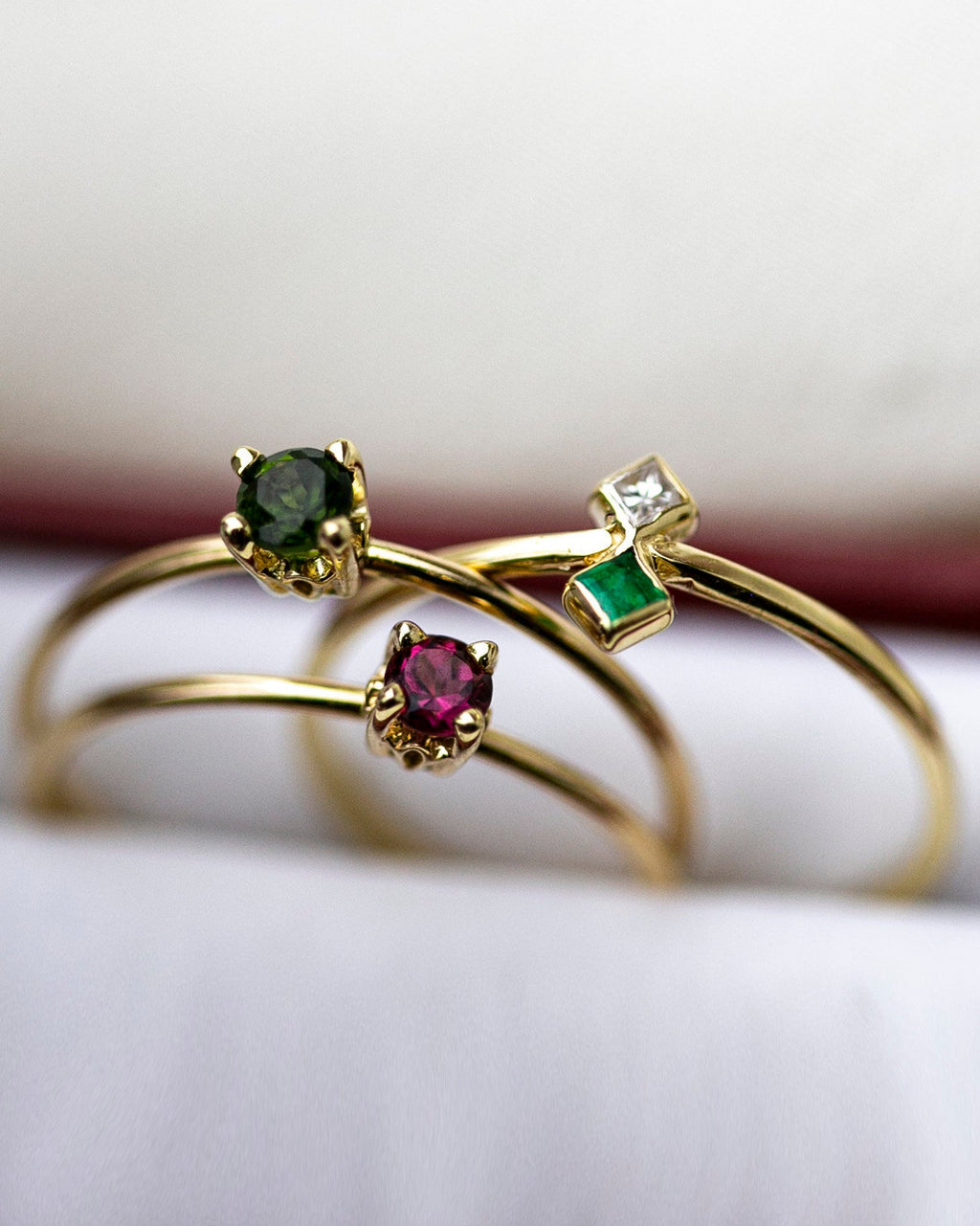 14k Gold Solitaire Birthstone Ring