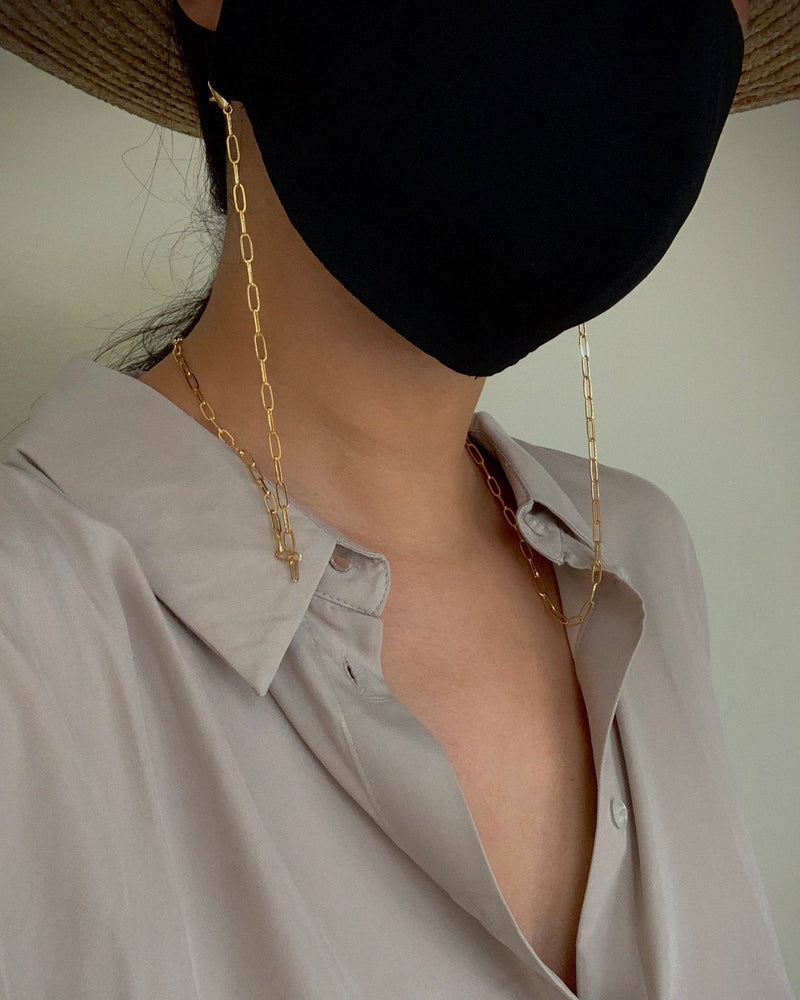 Gold box chain for mask