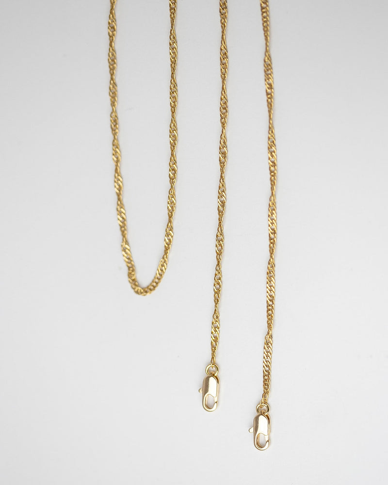Gold twist chain mask strap