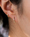 14k Round Bead Studs with diamond accent