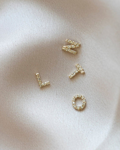 14K Initial Threader Earring