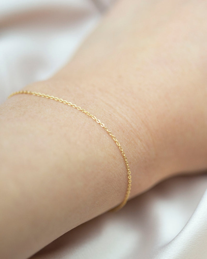 14k Feather weight Bracelet