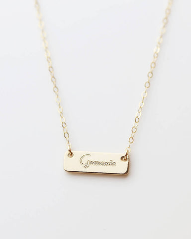 Vertical Mini Tag Necklace