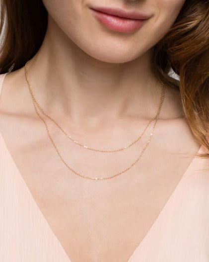 Dainty Double Wrap Necklace