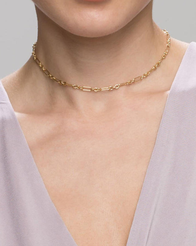 Bold Halo Bar Choker